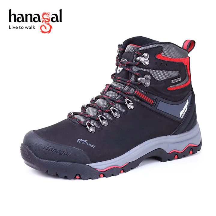 Fashion new design suede leather  waterproof  hiking boots for women