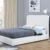 Willsoon 1398G Modern white pu Upholstered  Gas Lift Storage Bed for Wholesale