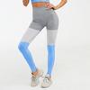 Tri-color stitching-blue pants