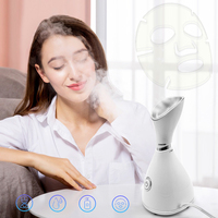 Private Label Professional Nano Ionic Electric Hot Warm Mist Facial Spa Steamer Face Steaming Machine for Skin Care