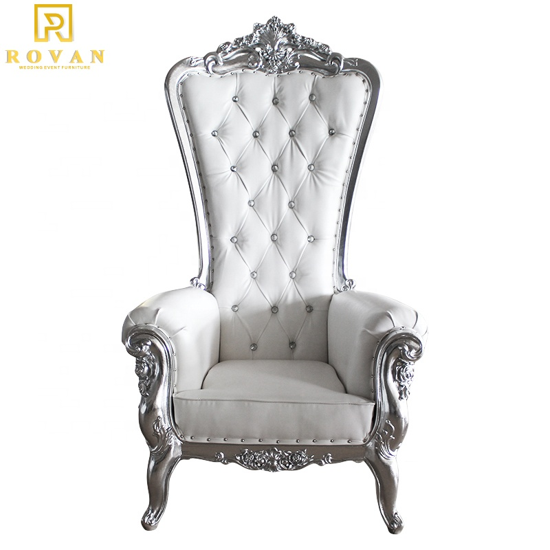 king and queen high back cheaper pink king sliver throne chairs high back royal luxury wedding chair for groom and bride