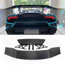 In Fibra di carbonio Posteriore del Tronco <span class=keywords><strong>Spoiler</strong></span> Alto Ali Caso per <span class=keywords><strong>Lamborghini</strong></span> <span class=keywords><strong>Huracan</strong></span> LP610 LP580 2014-2018 D style Car Styling