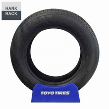 Blauwe Kleur Enkele Toyo Tire Display Stand <span class=keywords><strong>Plastic</strong></span> Band Houder