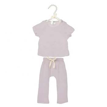 Hot sale 100% soft baby clothes cotton muslin baby clothing