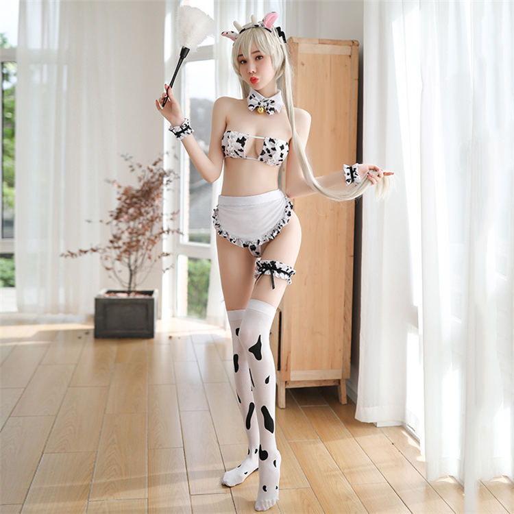 New Uniform Cow maid Sexy Woman Costumes Erotic Cosplay Lingerie