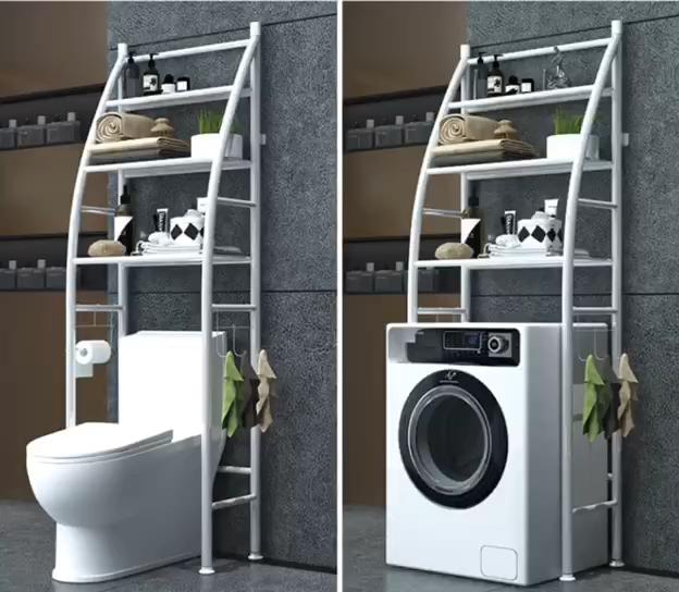 3 레이어 욕실 멀티 목적 선반 이상 화장실 스토리지 세탁기 스토리지 랙 공간 절약