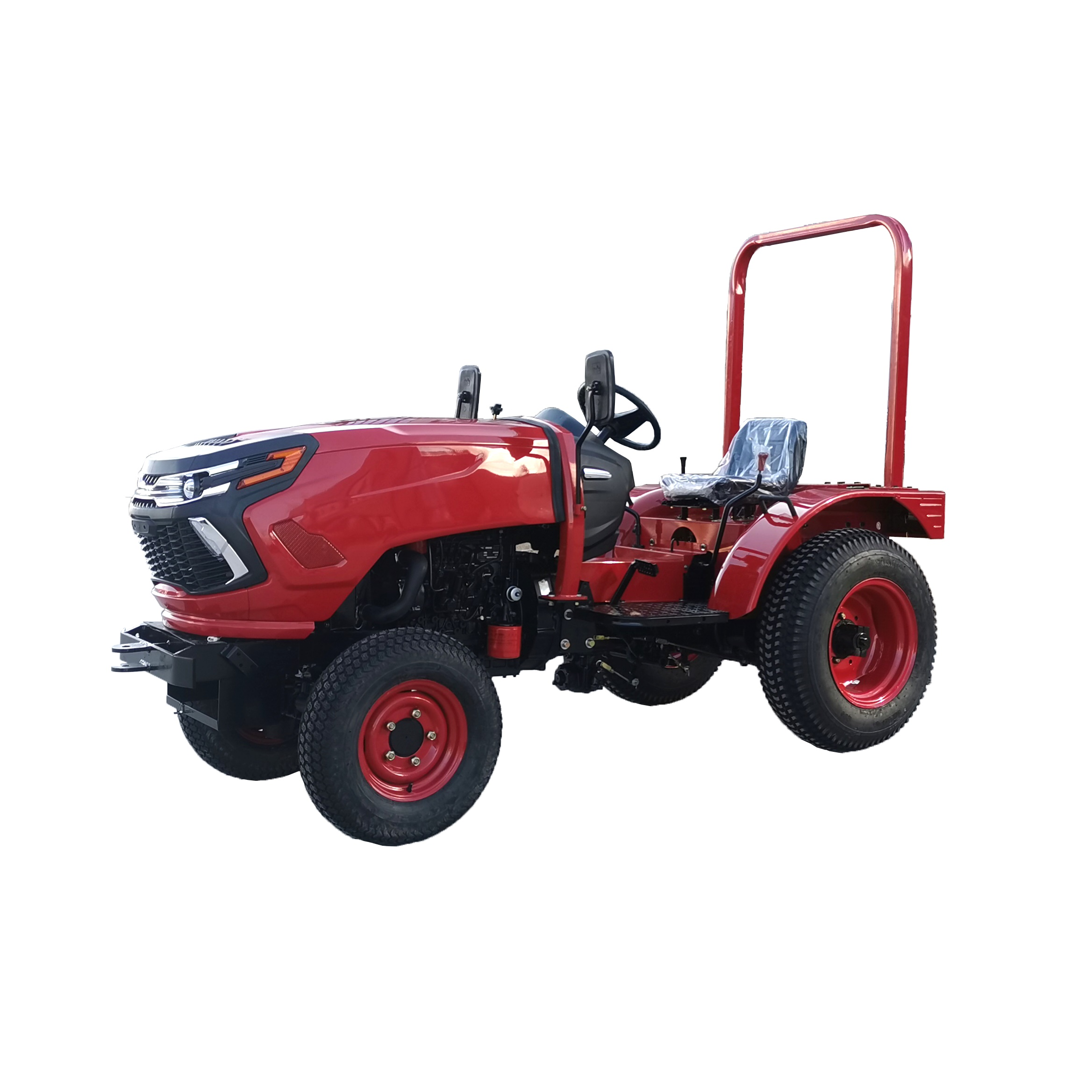 35HP 4x4 compact farm tractor with loader and backhoe