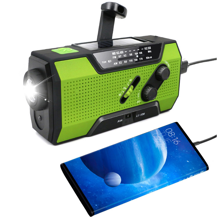 Portable Solar hand Crank Short Wave dynamo Radio With light