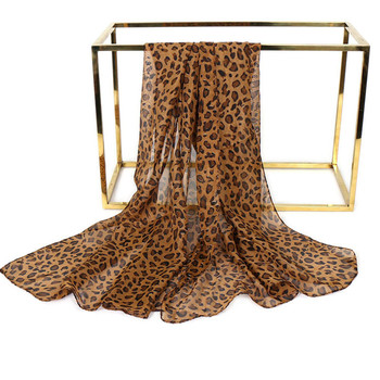 Wholesale 2019 Latest Fashion Women Chiffon Leopard Print Scarf Shawl Long Scarves
