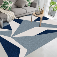 Cheap 100% Polyester geometric rug modern carpets for livingroom on sale