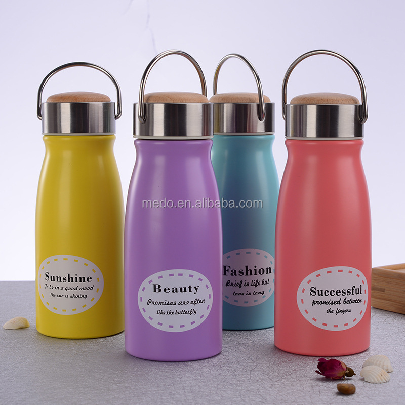 Custom vacuum water bottles for kids 12 oz stainless steel vacuum cup