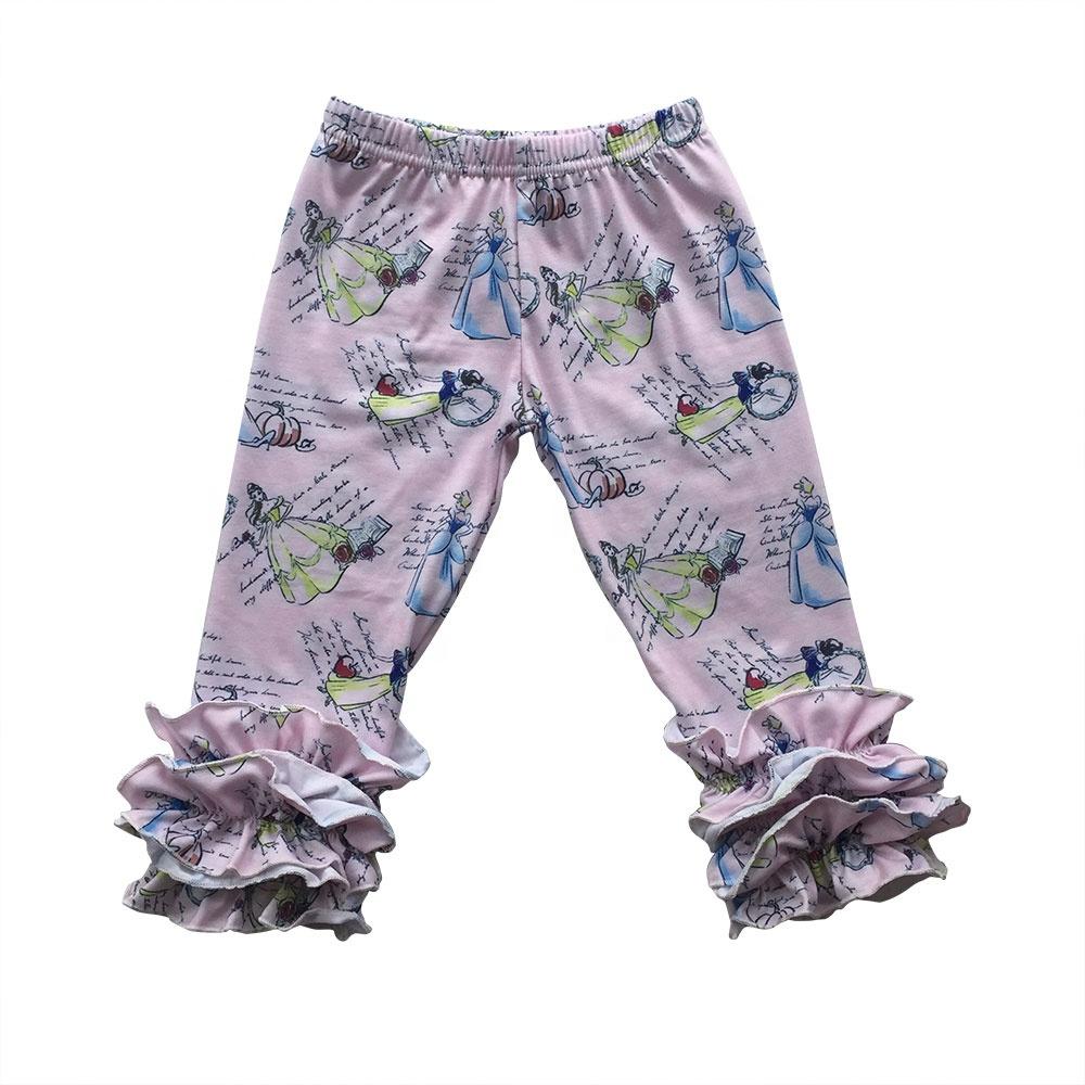 Pour bébé enfant fille leggings pantalon boutique Glaçage volants Pantalon Multi Couleurs