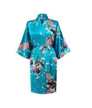 Шелковое атласное свадебное платье для невесты, японский традиционный халат подружки невесты с павлином, Дамское ночное белье, кимоно юкат...(Китай)