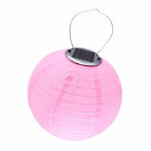 Фонарь на солнечной батарее, светодиодный подвесной шар, нейлоновый фонарь, сказочные огни для украшения сада, Свадебный Солнечный свет с б...(Китай)