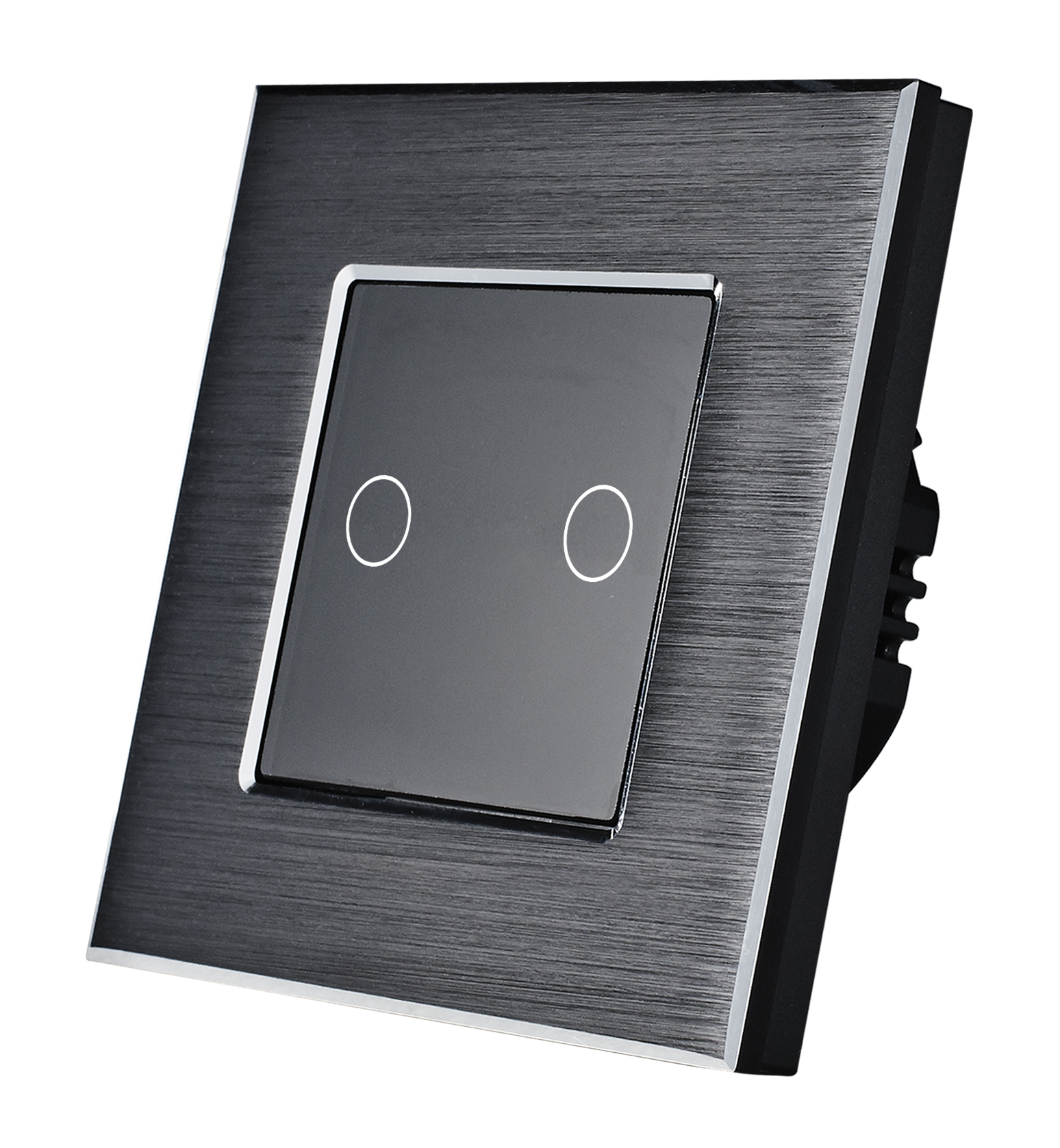 New UK/EU standard aluminum and small glass panel 2gang 1way dimmer touch button 700W switch