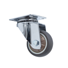 1.5inch TPR swivel caster environmentally friendly universal Castor Multidirectional with not brake lock omnidirectional Wheels