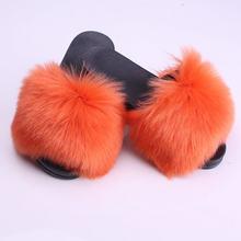 Модные женские тапочки из искусственного меха, домашняя обувь, летние женские тапочки, размеры 34-44(Китай)