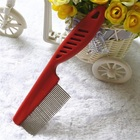 China Supply Plastic Handle Metal Pins Pet Dog Cat Animal Puppy Poodle Fine Teeth Hair Fur Grooming Cleaning Comb
