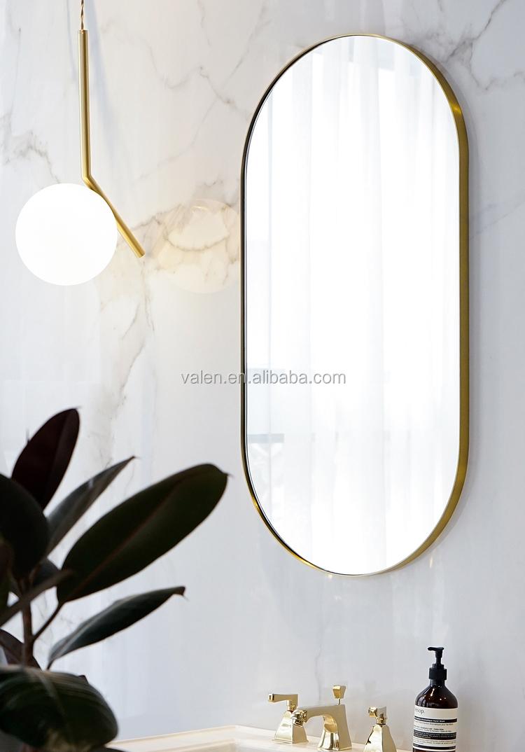50x100cm Black Framed Modern Hotel Project Bathroom Wall Decorative Oval Mirror Buy Oval Mirror Oval Mirror Frame Design Decorative Wall Mirror Product On Alibaba Com