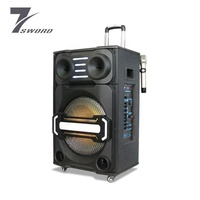 15 inch active pa system outdoor dj portable speaker