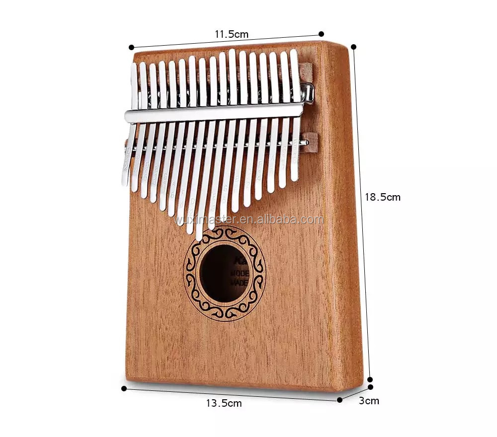 Top Selling Amazon Sapele Finger Piano Kalimba 17 Key With Bag