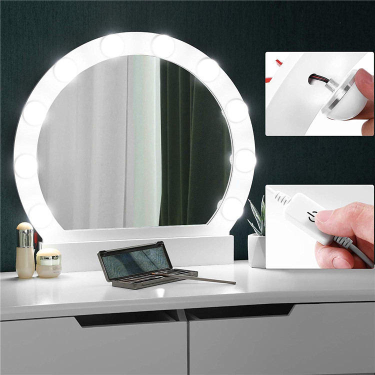 bedroom led bulbs Makeup station vanity table with mirror