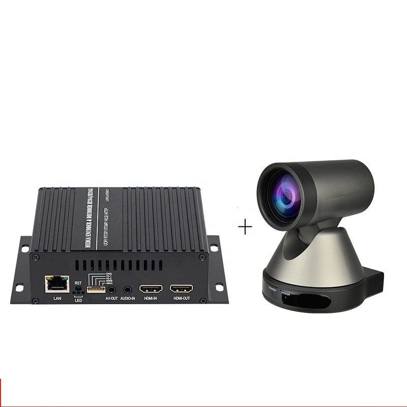 Haiwei H264 H265 Encoder Decoder IP Transcoder with IP Camera for P2P Live Streaming Tele-Education and Video Conference