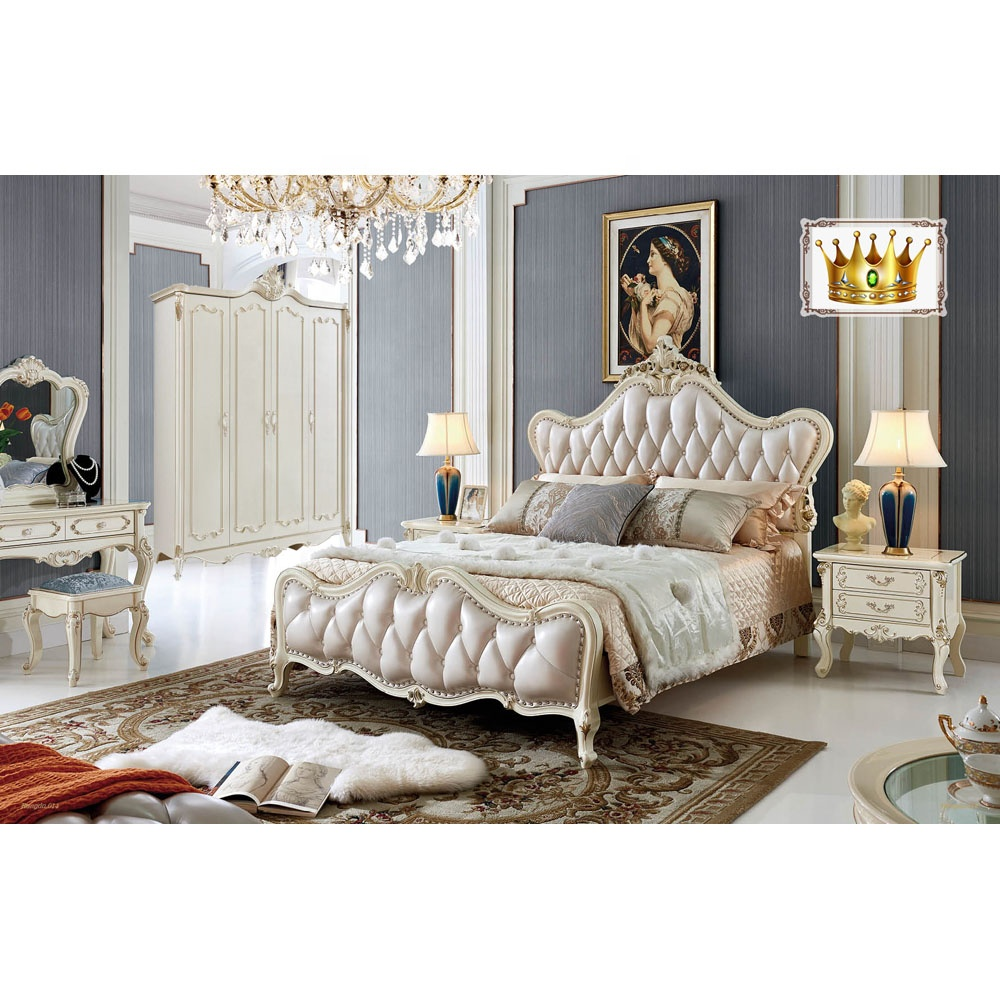 Luxury White Royal Bedroom Furniture French Antique Queen King Size Bedroom Set Buy King Size Bedroom Furniture Luxury White Royal Bedroom Furniture French Antique Bedroom Set Product On Alibaba Com