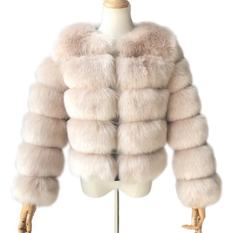 ¡Novedad de 2020! ¡venta al por mayor! abrigo de piel sintética de Invierno para mujer, abrigo de piel sintética cálido