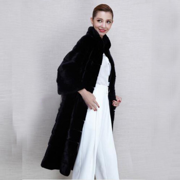 Lady's fur coat lady's fox fur imitation fur long mink