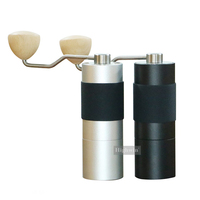 Factory Ceramic Burr Satin Finished Stainless Steel Black Coffee Grinder Manual