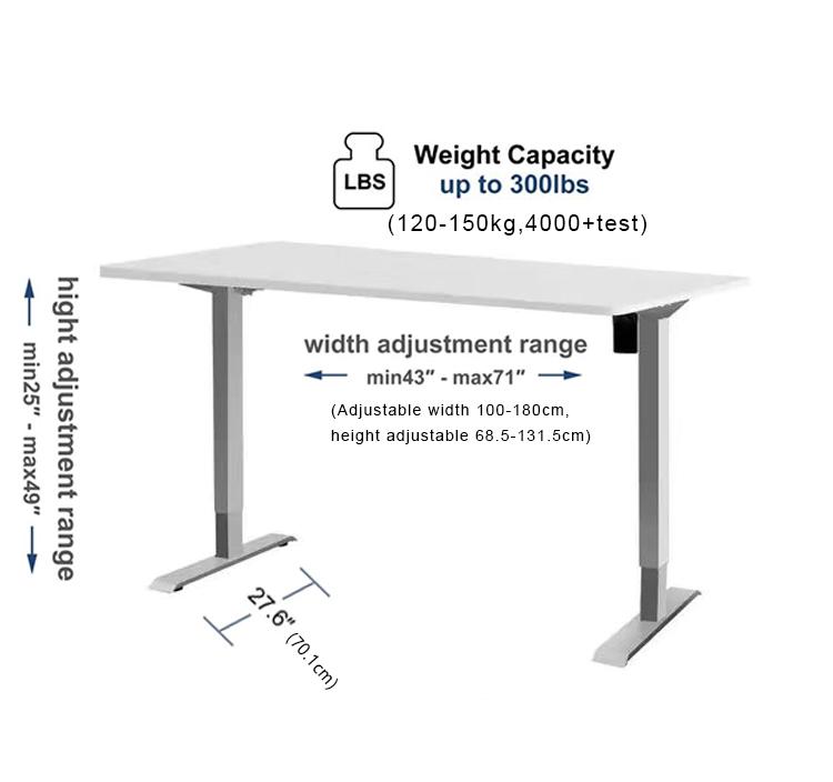 Móvil portátil de mecanismo de levantar la pierna de altura eléctrica y ajustable escritorio automática