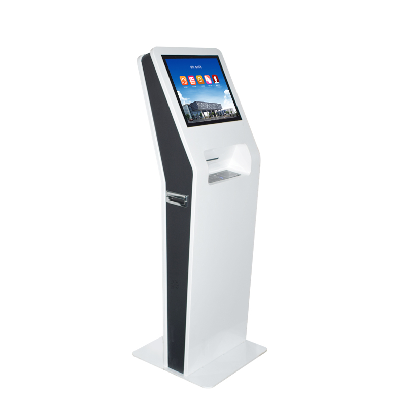 Kaartautomaat met tickets printer en bill betaling kiosk met cash acceptor & dispenser