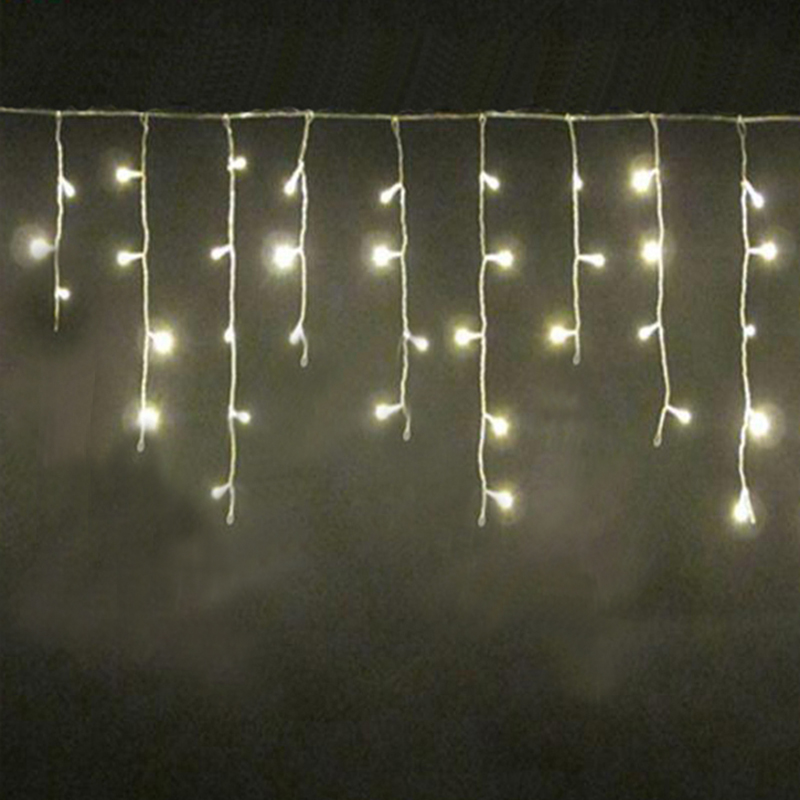 Factory direct sale LED icicle lights IP44 icicle lights pvc transparent wire 144LED220V7W