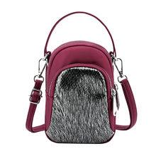 Женский модный нейлоновый кошелек с блестками, сумка на плечо для мобильного телефона, повседневные сумки, сумки через плечо для женщин *(Китай)