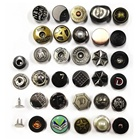 China manufacturer colorful OEM round metal zinc alloy jeans button for pants jackets clothing