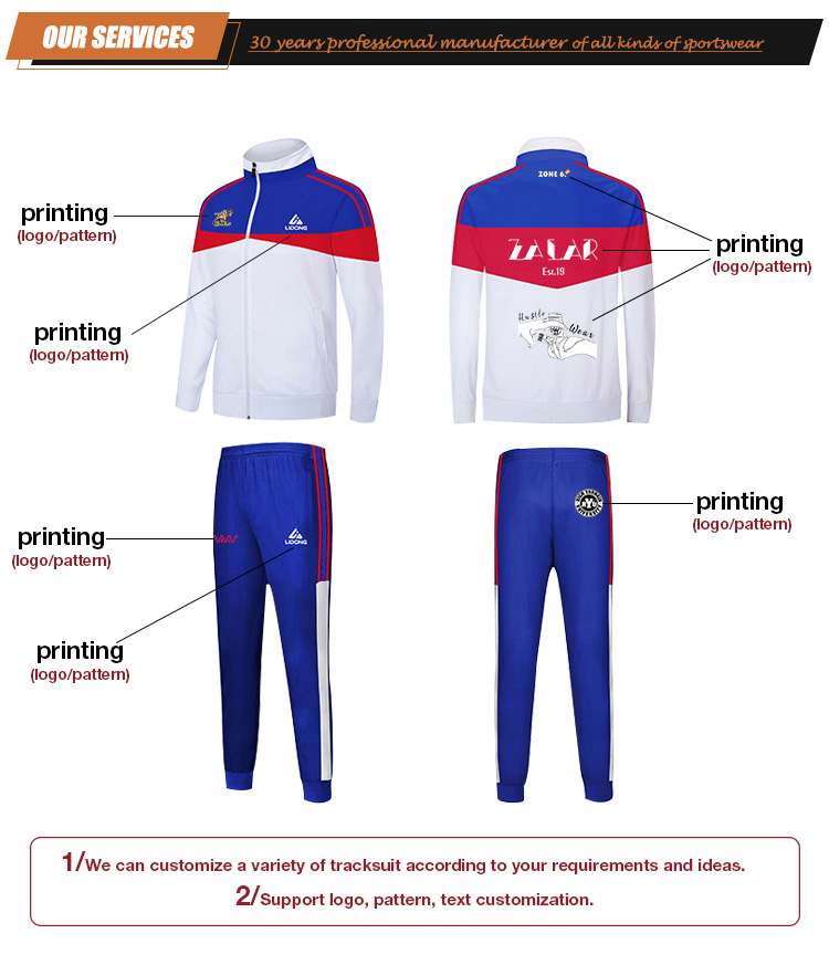 New Design Custom Sports Wear Running Training Polyester Men Sweat Suit Designer Track Jogging  Suit