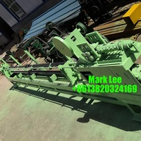 Cotton bale wire bending machine to make quick link bale ties