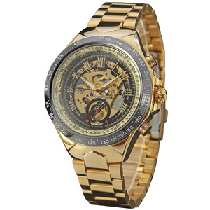 Good Quality Brand Winner Watches Skeleton For Men Stainless Steel Watch