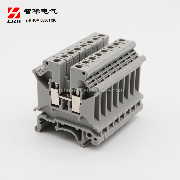 ZHIHUA Hot sale high quality din rail terminal block JHZ1-4(UK5N)  Electrical Screw Terminal Block Connector