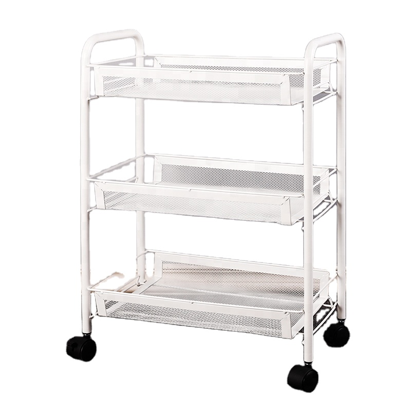 3 tiers kitchen storage shelf movable storage <strong>holder</strong> with 4 wheels