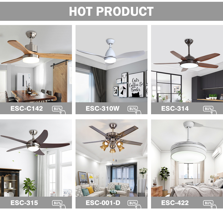 Wholesale Home Decoration Electric Motor ABS Blade Retractable Ceiling Fan