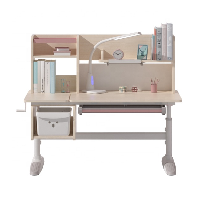 Children furniture sets kids table study desk with bookshelf children table and chairs
