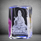 Light up the rubik's cube of the 3d etched Buddha image
