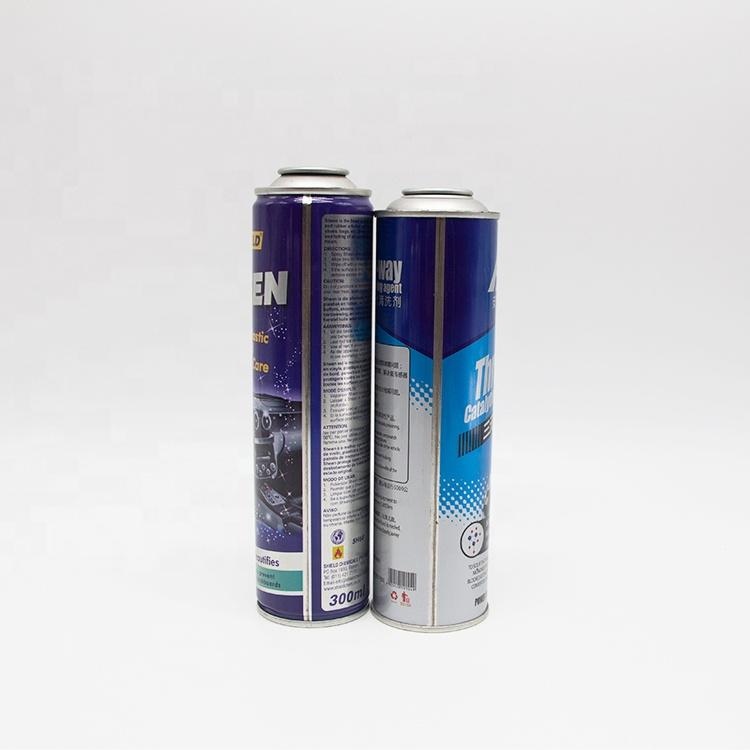 Guangzhou Futen manufacture metal type tinplate aerosol can with custom size