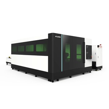 High power 3000w/4000W fiber laser cutting machine with exchange table and cabinet