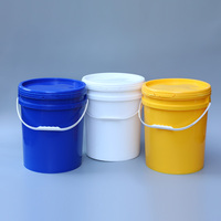 20L Round PP Paint Bucket 5 Gallon Plastic Disinfectant Drum With Lid