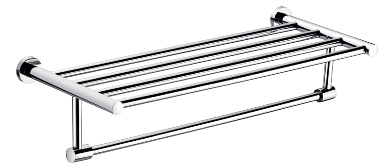 Wall-mounted towel holder shelf 304 stainless steel towel rack