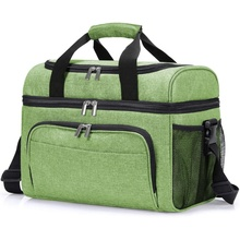 Kleurrijke polyester aluminiumfolie isolatie isotherm plastic cooler tote tas camping hoge kwaliteit <span class=keywords><strong>voedsel</strong></span> levering koeltas