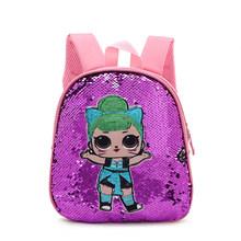 2019 Lol Surprise Dolls модный рюкзак из искусственной кожи школьный рюкзак с блестками для девочек Lol большая вместительность милые дорожные сумки с ...(Китай)